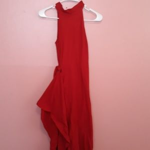 High Low Red Dress